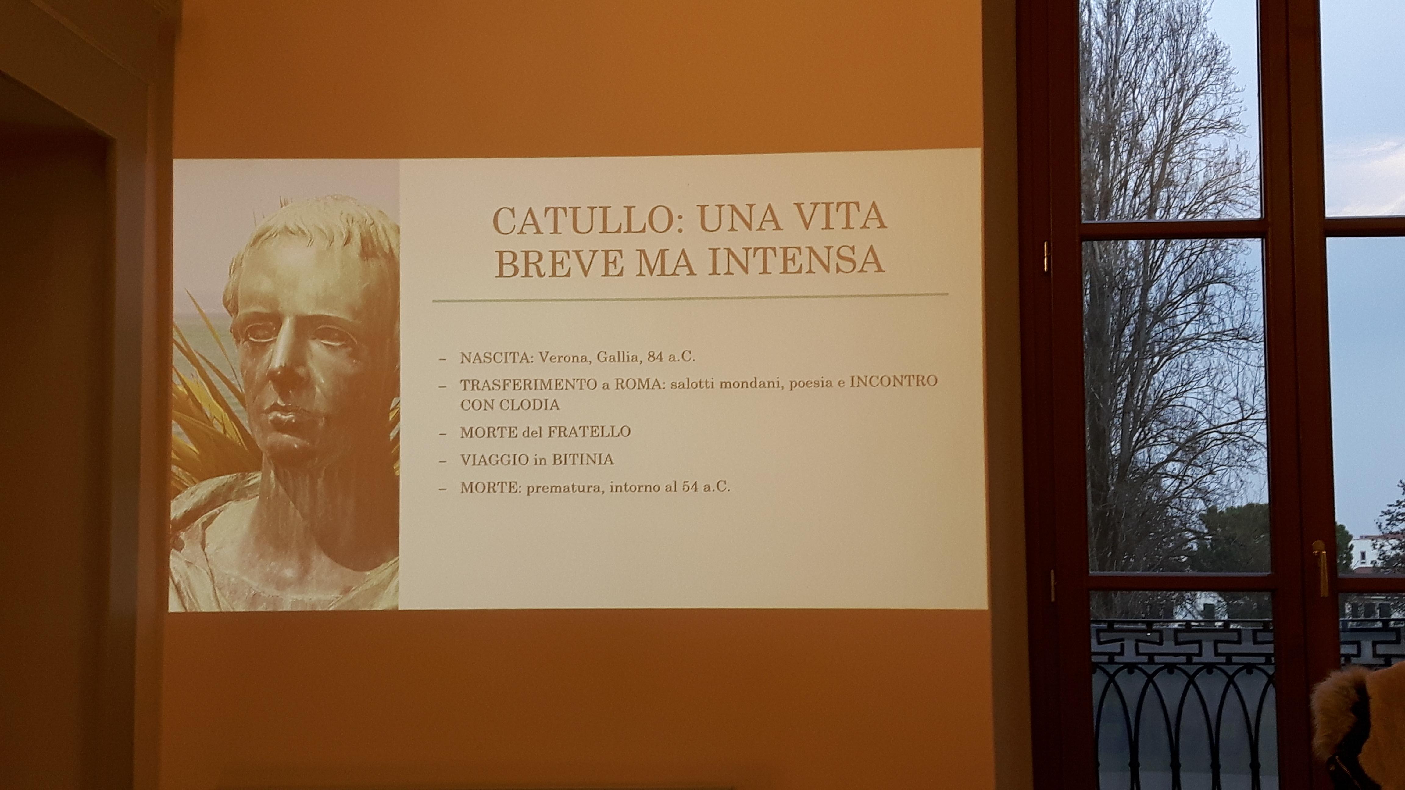 Conferenza su Catullo e Lesbia a cura di Carolina Carella e Chiara Carletti di 5^M