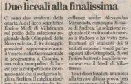 Il Medi alla finale nazionale di neuroscienze (L'Arena - Garda Week)