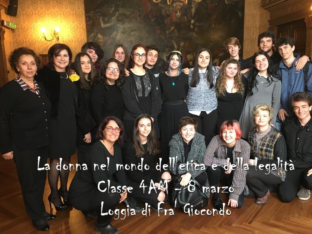 8 marzo - Incontro sul ruolo della donna - Classe 4AM, Loggia di Fra' Giocondo
