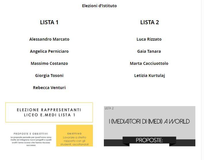 Elezioni Rappresentanti di Istituto