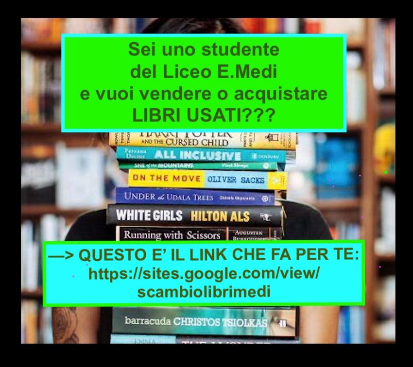 MERCATINO DEI LIBRI USATI AL MEDI PER A.S. 2021/22 : link e locandina